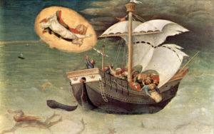 Помощь святителя Николая морякам. Джентиле да Фабриано, ок. 1425