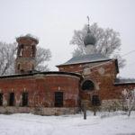 Борисо-Глебская церковь в начале восстановления