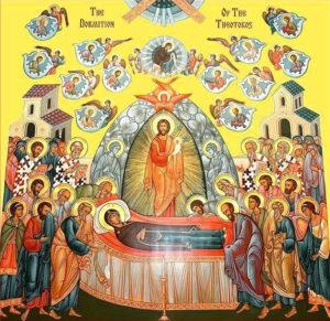 Успение Пресвятой Богородицы. Список с греческой иконы