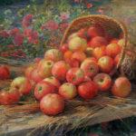 Картина Ф.В. Сычкова «Алма-атинские яблоки» (1937)