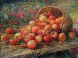 «Алма-атинские яблоки» (Ф.В. Сычков, 1937; холст, масло; Мордовский республиканский музей изобразительных искусств имени С.Д. Эрьзи)