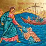 Спасение утопающего Петра. Икона
