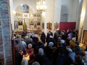 Вербное воскресенье в Спасском храме 2018