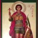 Икона мученика Уара, написанная для Спасского храма г. Серпухова