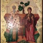 Икона святых Киприана и Иустины, написанная для Спасского храма г. Серпухова